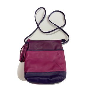 ICI New York Crossbody Bag Pink & Purple Leather